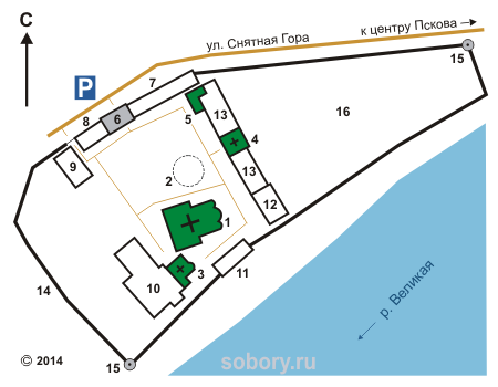 План Снетогорского монастыря