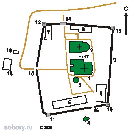 План Троицкого Зеленецкого монастыря