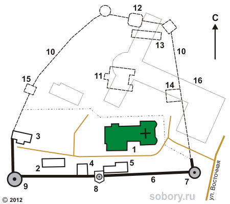 План Симонова  монастыря, Москва