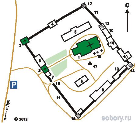План Свято-Николо-Тихонова Лухского монастыря в Тимирязево