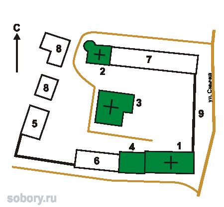 План Николаевского Клобукова  монастыря,Кашин