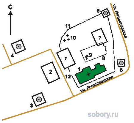 План Петровского монастыря,Ростов,Ярославская область