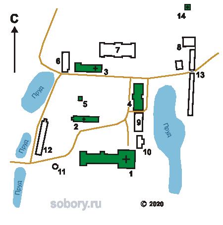 План Серафимо-Понетаевского монастыря