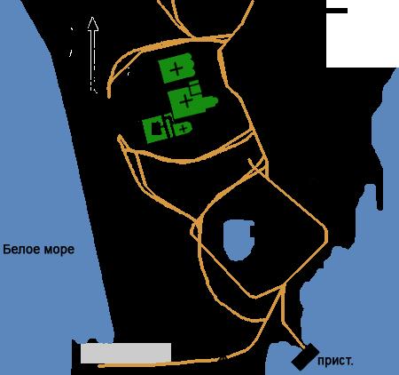 План Кийского Крестного монастыря,Кий-остров, Архангельская область