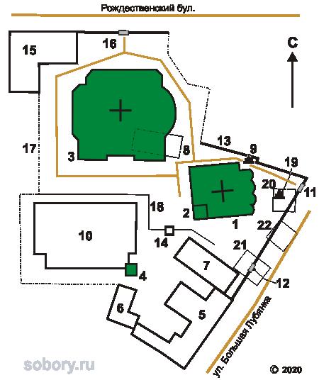 План Сретенского монастыря в Москве