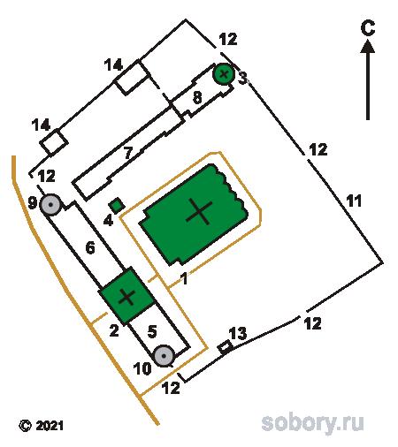 План Николо-Радовицкого монастыря