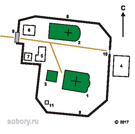 План Лихвинского Успенского Гремячева монастыря