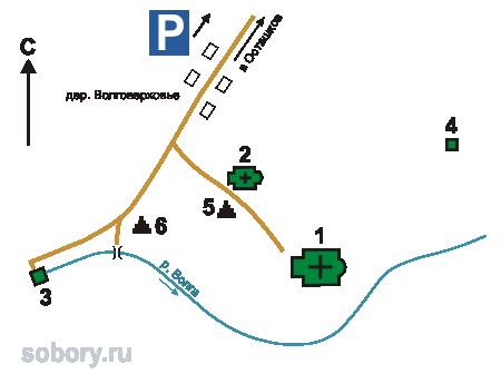 План  Ольгинского монастыря, Волговерховье