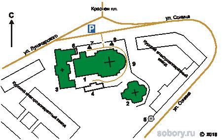 План Знаменского монастыря в Курске