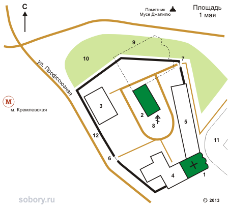 План Иоанно-Предтеченского монастыря в Казани
