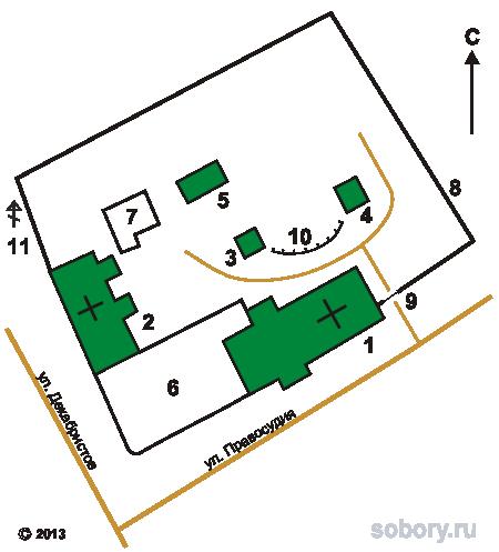 План Кизического Введенского монастыря