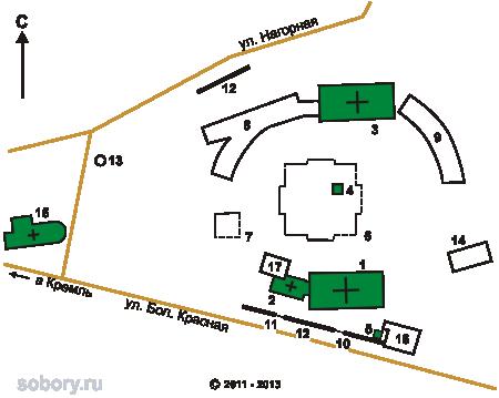 План Казанского Богородицкиого  монастыря,Казань