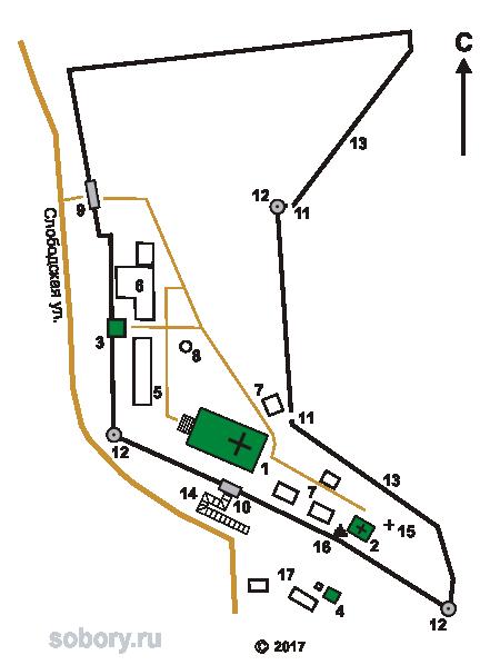 План Знаменского монастыря в Ельце