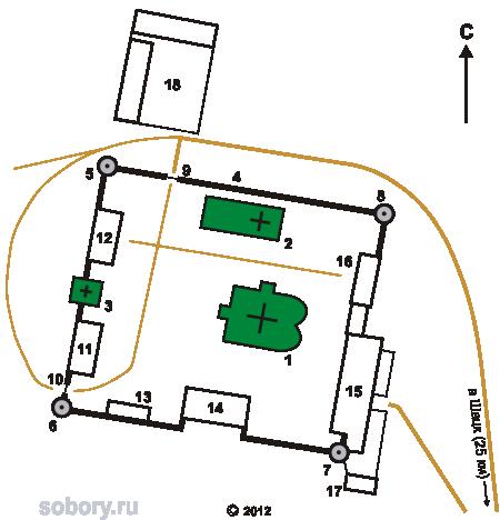 План Николо-Чернеевского монастыря