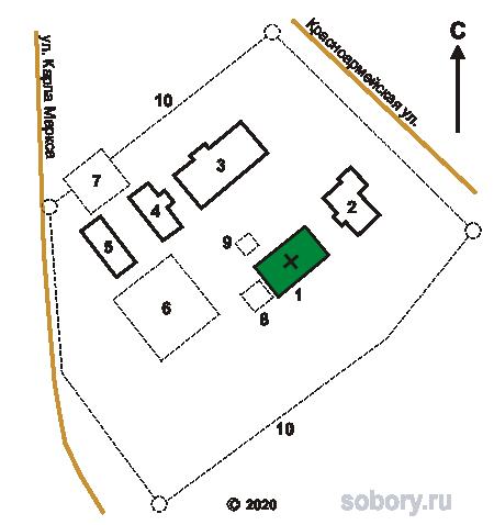 План Сретенского монастыря в Кашине