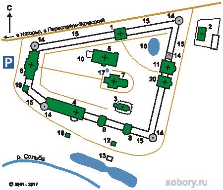 План Николо-Сольбинский женского  монастыря, Сольба