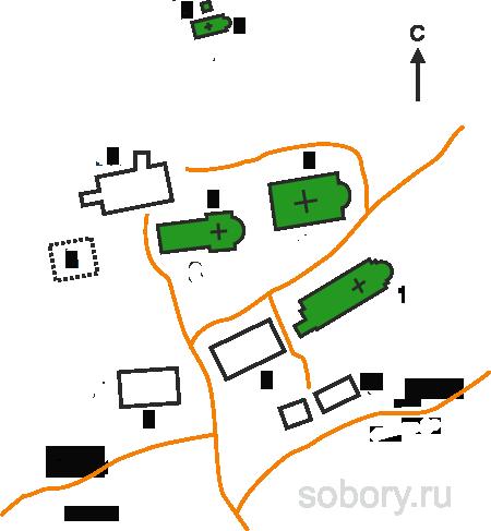 План Артемиева Веркольского монастыря,Веркола (Новый Путь), Архангельская область