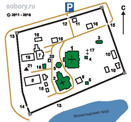 План Троицкого Герасимо-Болдинского  монастыря, Болдино