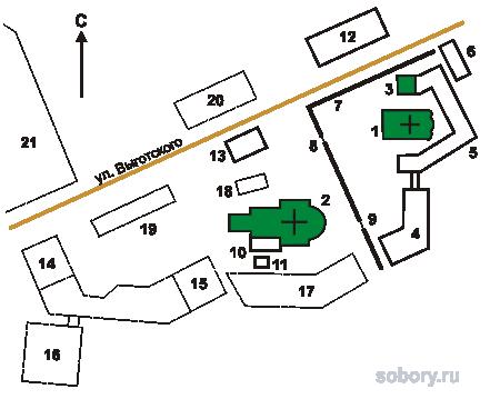 План Свято-Елизаветинского женского монастыря, Беларусь,Минск