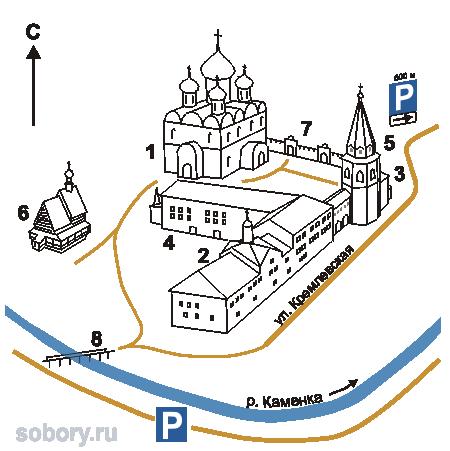 План Суздальского Кремля, Суздаль