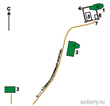 План  Скита преподобного Саввы, Звенигород