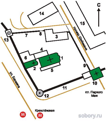 План Спасо-Преображенского монастыря, Архангельская область