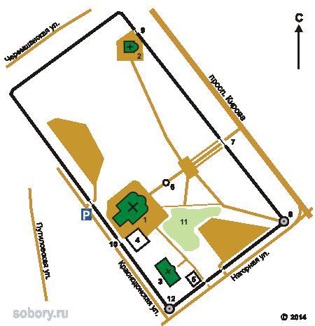 План Воскресенского монастыря,Самара, Самарская область