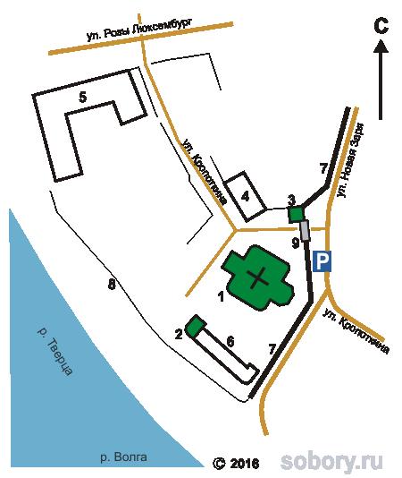 План Екатерининского монастыря в Твери