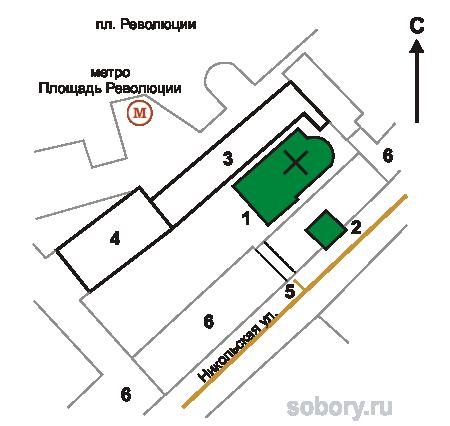 План Заиконоспасского монастыря, Москва
