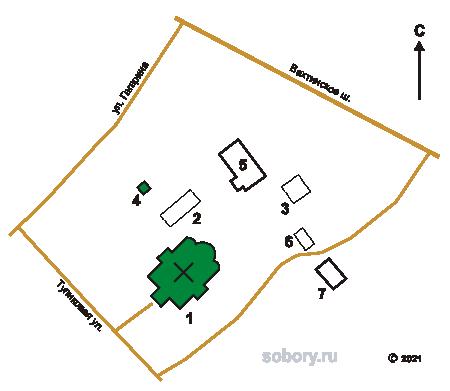 План Казанского монастыря в Горушке