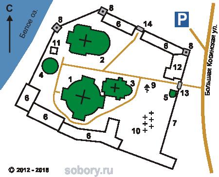 План храмового комплекса в Косино, Москва