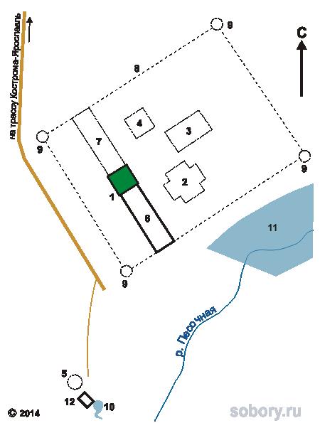 План Богородицкого Песоченского Игрицкого монастыря