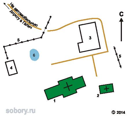 План Авраамиева Новозаозерского монастыря в Умиление