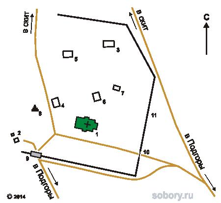 План Заволжского мужского монастыря в честь Честного и Животворящего Креста Господня