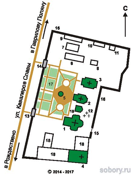 План Заволжского Свято-Ильинского монастыря