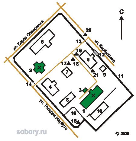 План Мироносицкого монастыря в Бобруйске