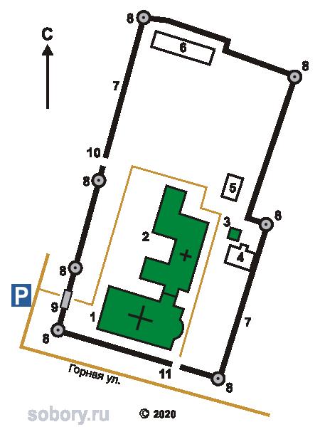 План Рождество-Богородичного монастыря в Юровичах